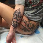 фото Тату в стиле орнаментал от 10.02.2018 №092 - Tattoo ornamental - tatufoto.com