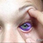 фото Тату на глазном яблоке от 13.02.2018 №062 - Eyeball tattoo - tatufoto.com