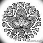 Ornamental Lotus Tattoo Sign