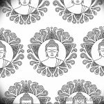 Buddha with Lotus Seamless Pattern