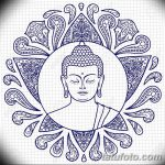 Buddha with Lotus Sketch