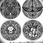 фото Эскизы тату оберегов от 17.02.2018 №254 - Sketches of tattoo amulets - tatufoto.com
