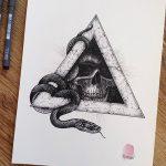 фото Эскизы тату оберегов от 17.02.2018 №256 - Sketches of tattoo amulets - tatufoto.com