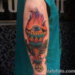 фото рисунок тату факел от 07.02.2018 №001 - torch tattoo - tatufoto.com