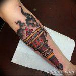 фото рисунок тату факел от 07.02.2018 №003 - torch tattoo - tatufoto.com
