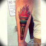 фото рисунок тату факел от 07.02.2018 №004 - torch tattoo - tatufoto.com
