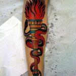 фото рисунок тату факел от 07.02.2018 №005 - torch tattoo - tatufoto.com