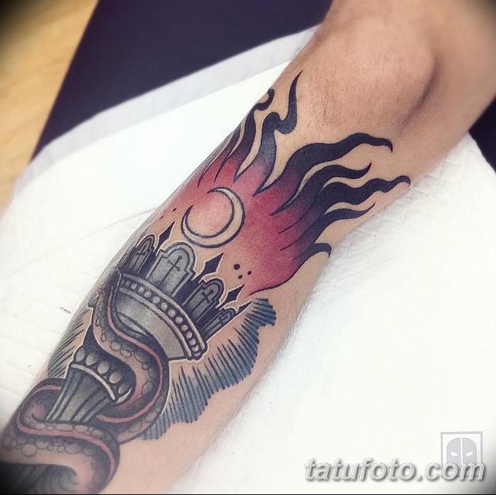 фото рисунок тату факел от 07.02.2018 №006 - torch tattoo - tatufoto.com