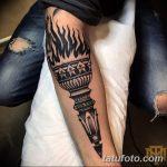 фото рисунок тату факел от 07.02.2018 №007 - torch tattoo - tatufoto.com
