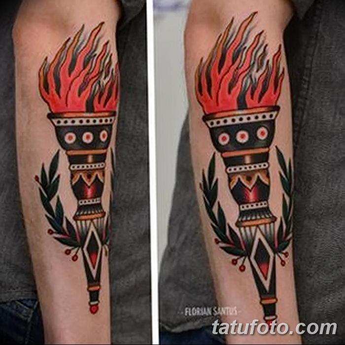 фото рисунок тату факел от 07.02.2018 №010 - torch tattoo - tatufoto.com