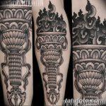 фото рисунок тату факел от 07.02.2018 №011 - torch tattoo - tatufoto.com