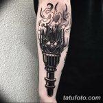 фото рисунок тату факел от 07.02.2018 №012 - torch tattoo - tatufoto.com