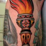фото рисунок тату факел от 07.02.2018 №015 - torch tattoo - tatufoto.com