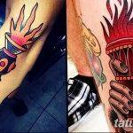 фото рисунок тату факел от 07.02.2018 №016 - torch tattoo - tatufoto.com