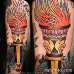фото рисунок тату факел от 07.02.2018 №017 - torch tattoo - tatufoto.com