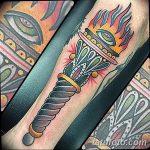 фото рисунок тату факел от 07.02.2018 №020 - torch tattoo - tatufoto.com