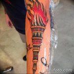 фото рисунок тату факел от 07.02.2018 №021 - torch tattoo - tatufoto.com