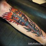 фото рисунок тату факел от 07.02.2018 №022 - torch tattoo - tatufoto.com