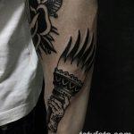 фото рисунок тату факел от 07.02.2018 №024 - torch tattoo - tatufoto.com