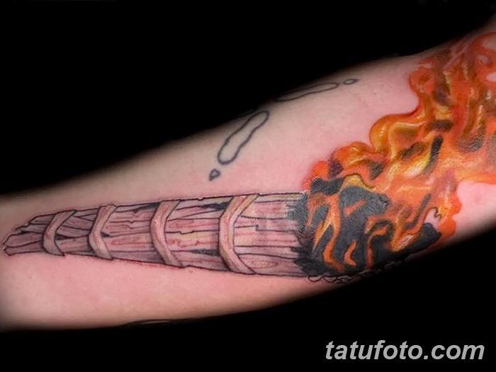 фото рисунок тату факел от 07.02.2018 №029 - torch tattoo - tatufoto.com