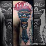 фото рисунок тату факел от 07.02.2018 №030 - torch tattoo - tatufoto.com
