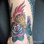 фото рисунок тату факел от 07.02.2018 №032 - torch tattoo - tatufoto.com