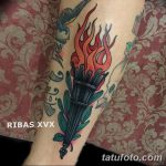 фото рисунок тату факел от 07.02.2018 №033 - torch tattoo - tatufoto.com