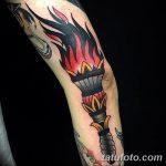 фото рисунок тату факел от 07.02.2018 №035 - torch tattoo - tatufoto.com