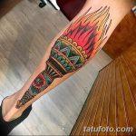 фото рисунок тату факел от 07.02.2018 №040 - torch tattoo - tatufoto.com