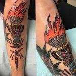 фото рисунок тату факел от 07.02.2018 №043 - torch tattoo - tatufoto.com