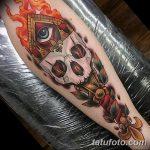 фото рисунок тату факел от 07.02.2018 №044 - torch tattoo - tatufoto.com