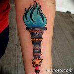 фото рисунок тату факел от 07.02.2018 №046 - torch tattoo - tatufoto.com