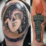 фото рисунок тату факел от 07.02.2018 №048 - torch tattoo - tatufoto.com