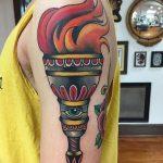 фото рисунок тату факел от 07.02.2018 №049 - torch tattoo - tatufoto.com