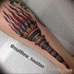 фото рисунок тату факел от 07.02.2018 №050 - torch tattoo - tatufoto.com