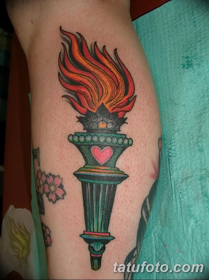 фото рисунок тату факел от 07.02.2018 №051 - torch tattoo - tatufoto.com