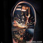 фото рисунок тату факел от 07.02.2018 №053 - torch tattoo - tatufoto.com