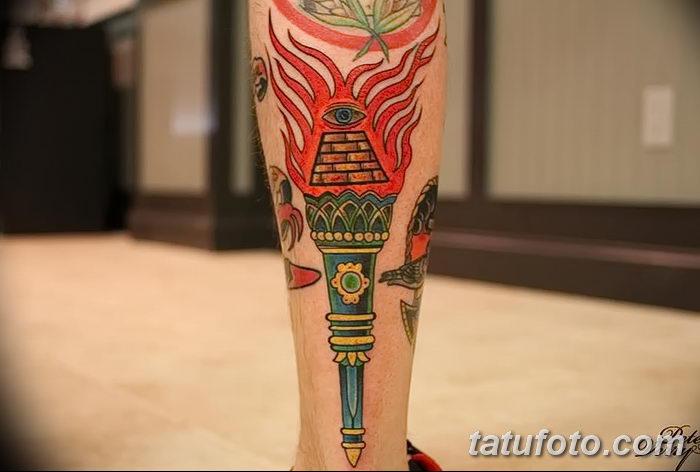 фото рисунок тату факел от 07.02.2018 №054 - torch tattoo - tatufoto.com