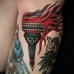 фото рисунок тату факел от 07.02.2018 №056 - torch tattoo - tatufoto.com