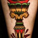 фото рисунок тату факел от 07.02.2018 №057 - torch tattoo - tatufoto.com