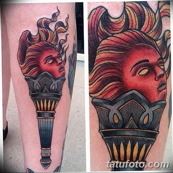 фото рисунок тату факел от 07.02.2018 №063 - torch tattoo - tatufoto.com