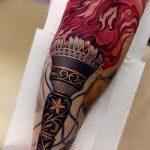 фото рисунок тату факел от 07.02.2018 №067 - torch tattoo - tatufoto.com