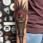 фото рисунок тату факел от 07.02.2018 №068 - torch tattoo - tatufoto.com