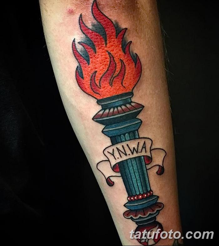 фото рисунок тату факел от 07.02.2018 №069 - torch tattoo - tatufoto.com
