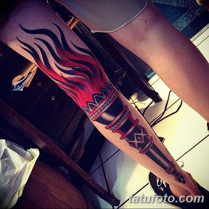 фото рисунок тату факел от 07.02.2018 №070 - torch tattoo - tatufoto.com