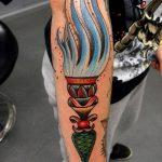 фото рисунок тату факел от 07.02.2018 №072 - torch tattoo - tatufoto.com