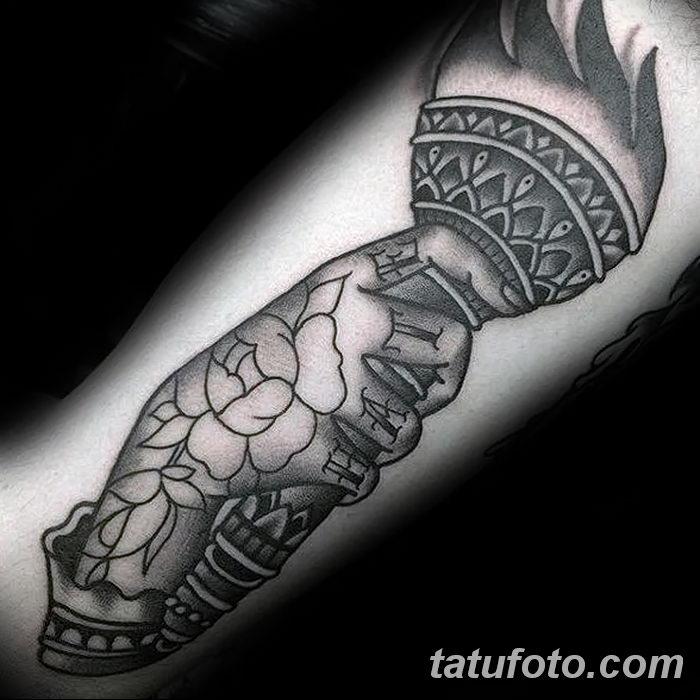 фото рисунок тату факел от 07.02.2018 №075 - torch tattoo - tatufoto.com