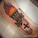 фото рисунок тату факел от 07.02.2018 №076 - torch tattoo - tatufoto.com