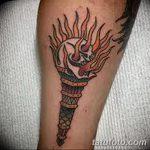 фото рисунок тату факел от 07.02.2018 №077 - torch tattoo - tatufoto.com