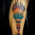 фото рисунок тату факел от 07.02.2018 №079 - torch tattoo - tatufoto.com